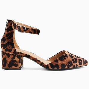 Torrid Leopard Velvet D'Orsay Block Heel Pump